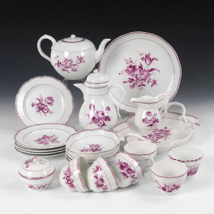 Coffee service with purple painting, MEISSE - photo 1