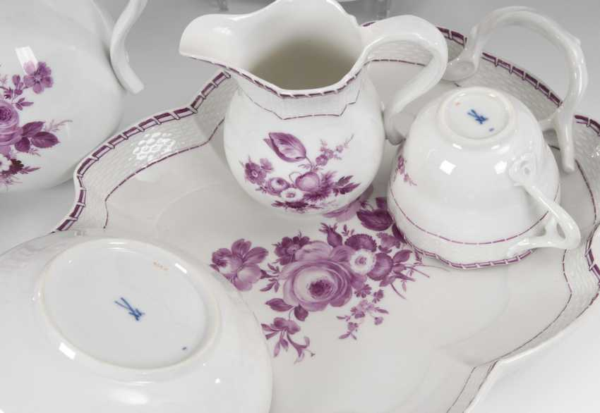 Coffee service with purple painting, MEISSE - photo 2