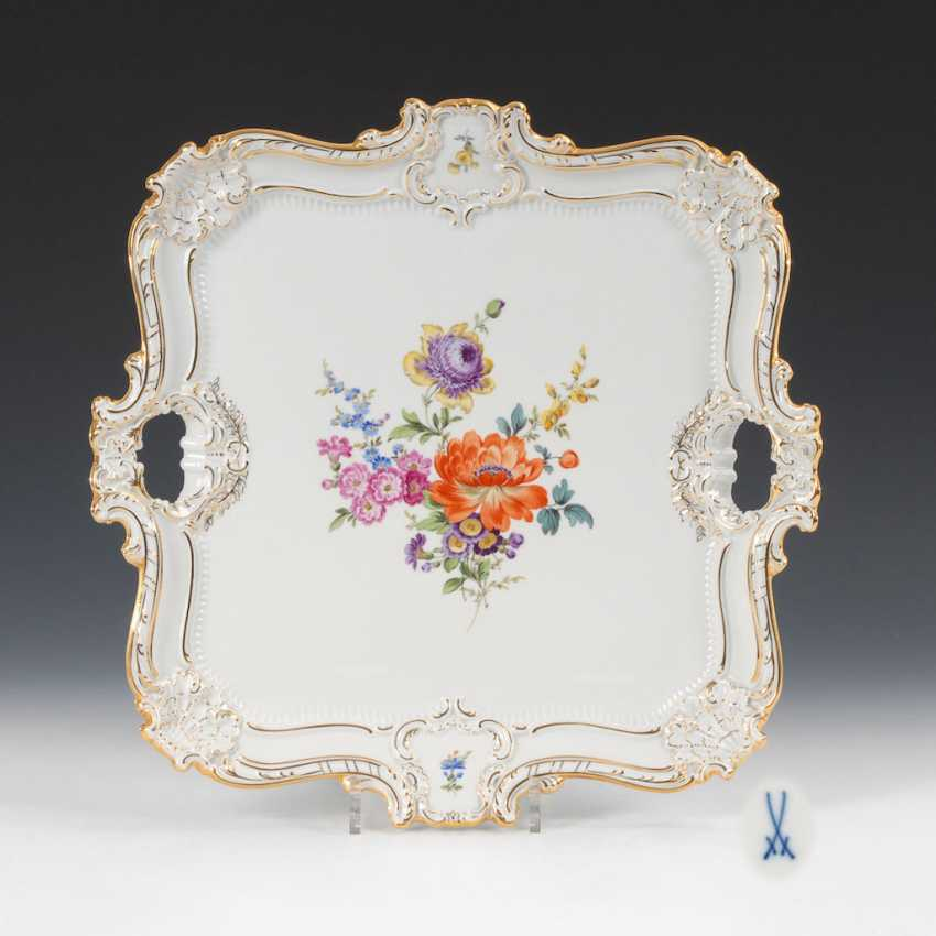 Tray with flower painting, MEISSEN. - photo 1