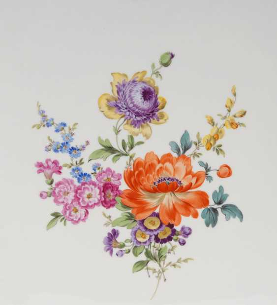 Tray with flower painting, MEISSEN. - photo 2