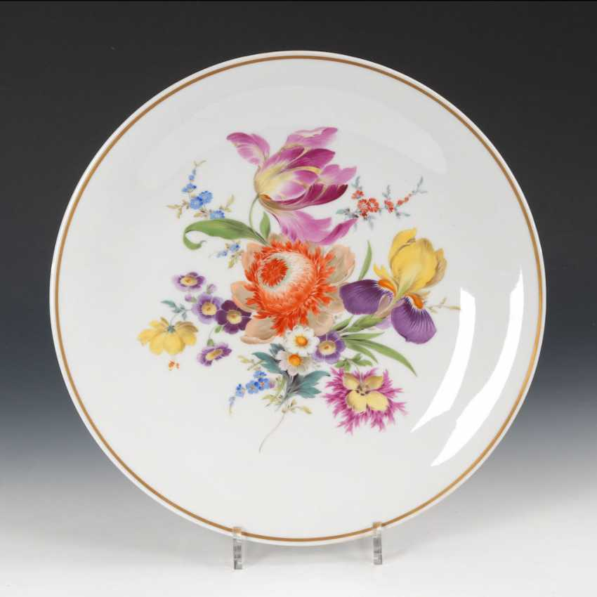 Wall plate with flower painting, MEISSEN. - photo 1