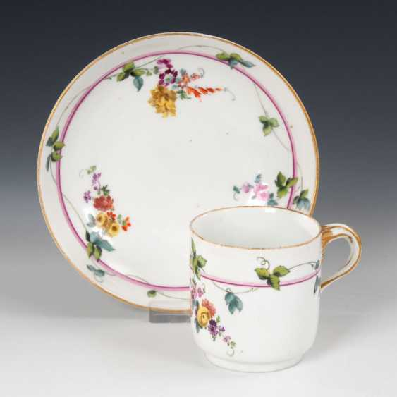 Cup with flower painting, MEISSEN. - photo 1