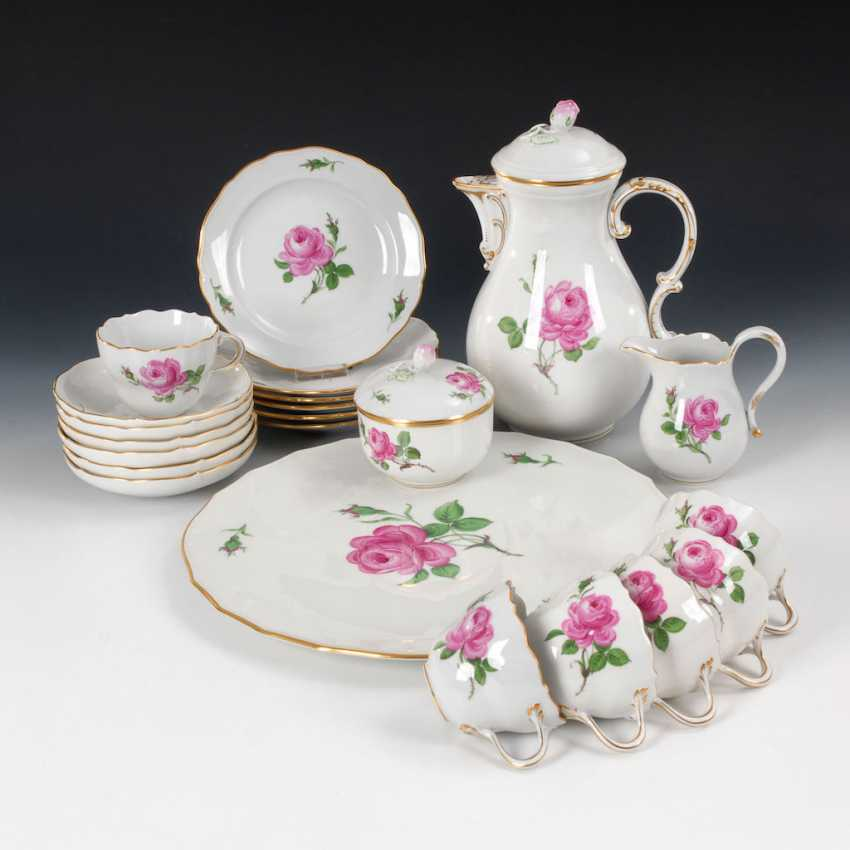 """A coffee service """"Red Rose"""", MEISSEN. - photo 1"""