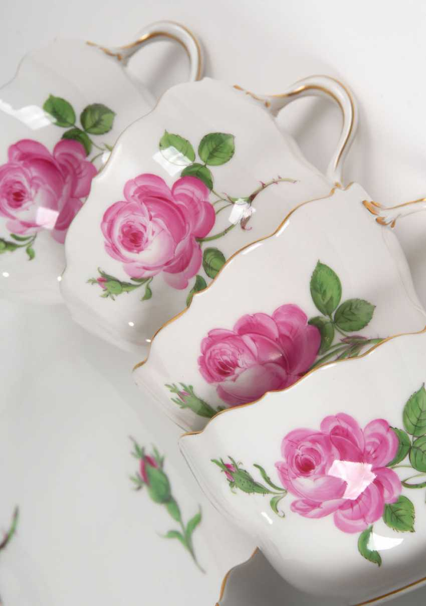 """A coffee service """"Red Rose"""", MEISSEN. - photo 2"""