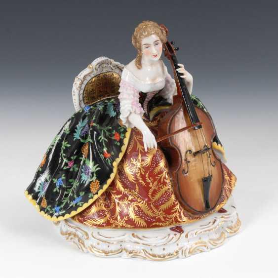 Musical Rococo lady, PASSAU, Germany. - photo 1