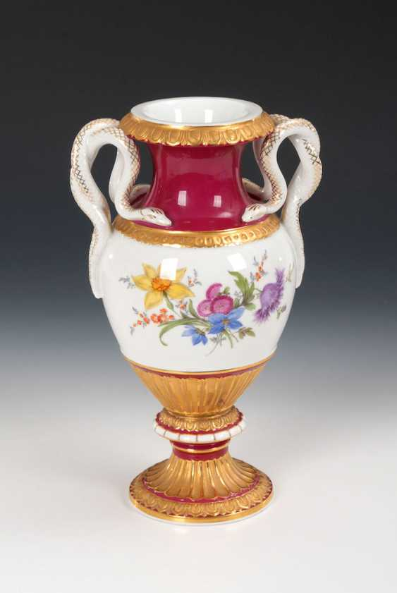 Snake handle vase, MEISSEN. - photo 1
