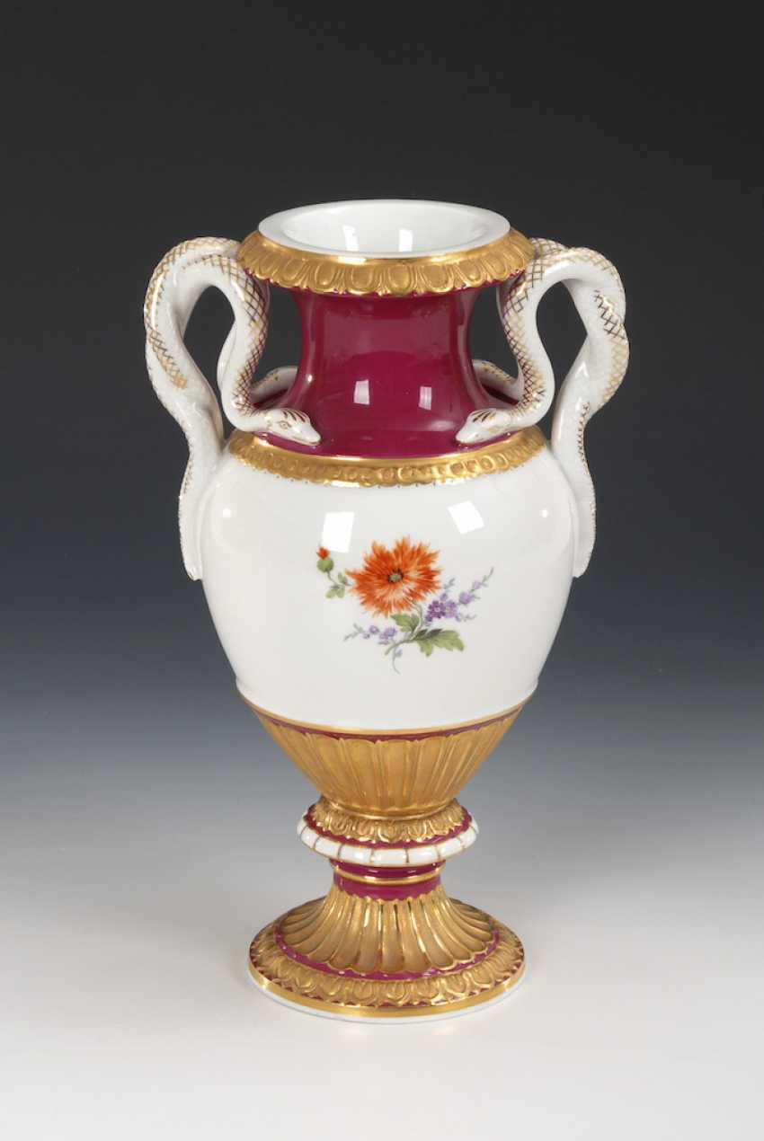 Snake handle vase, MEISSEN. - photo 2