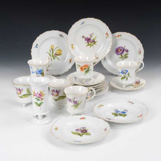 6 place settings and a Vase, MEISSEN. - photo 1