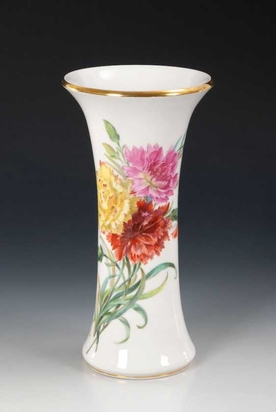 Flute vase with soft painting, MEISSEN. - photo 1
