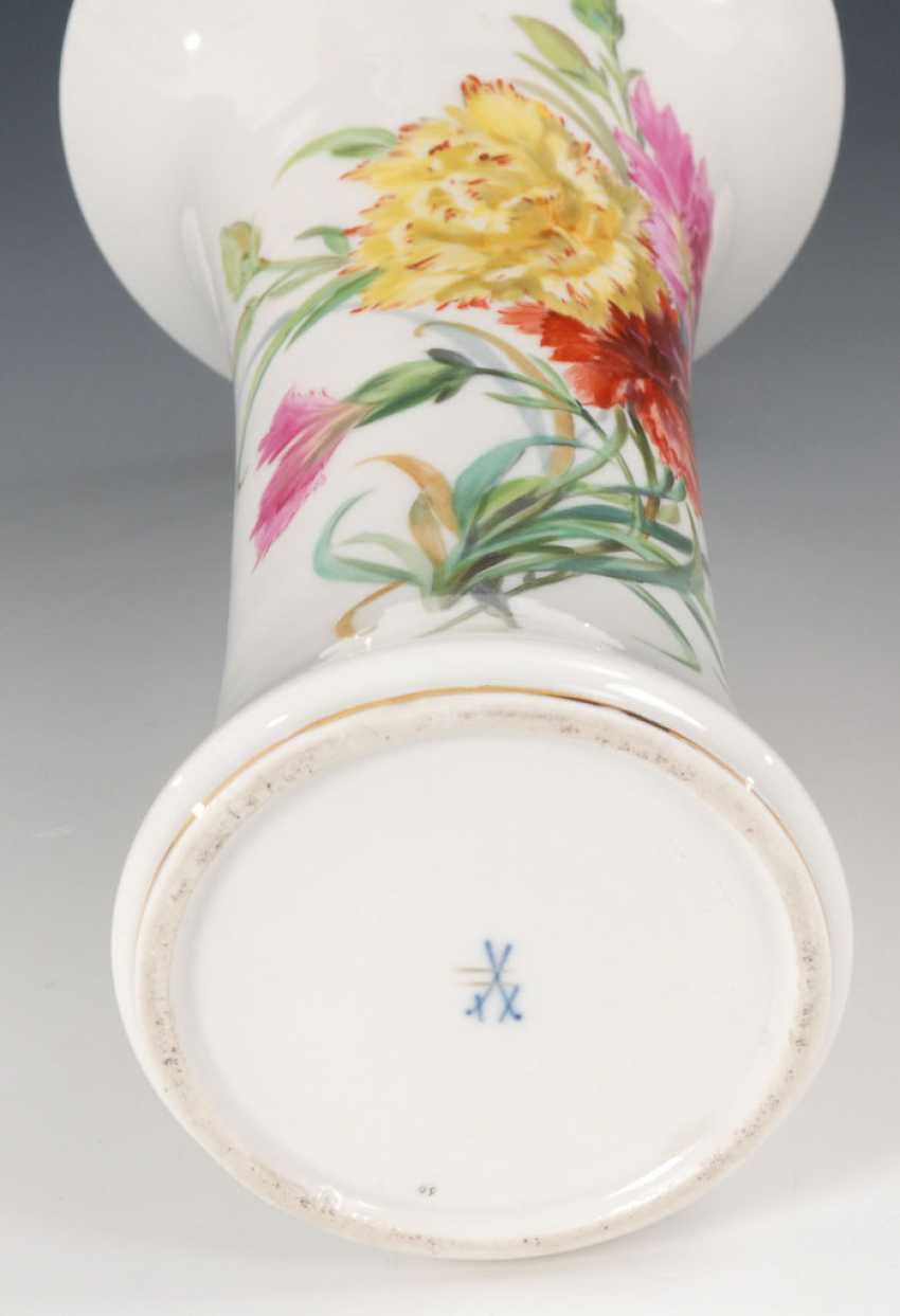 Flute vase with soft painting, MEISSEN. - photo 2