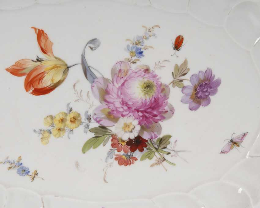 Plate with flower painting, MEISSEN. - photo 2