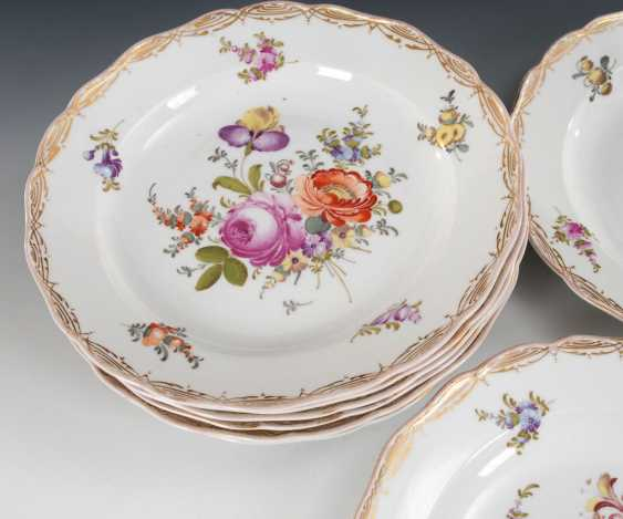 8 plates with flower painting, MEISSEN. - photo 2