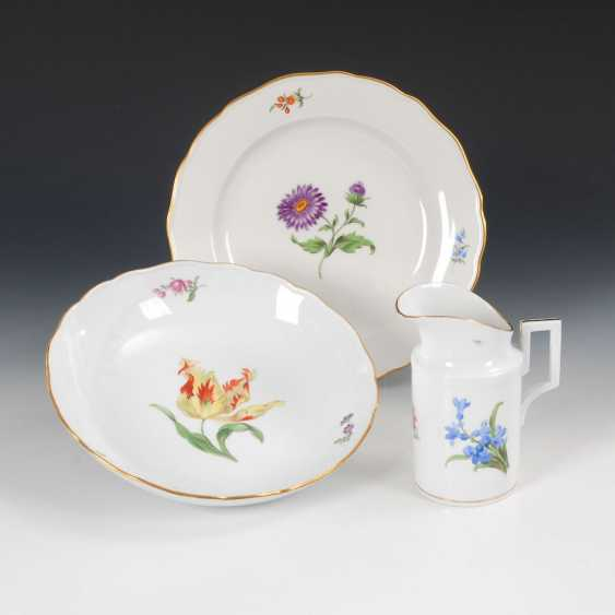Round bowl, plate and milk jug, M - photo 1