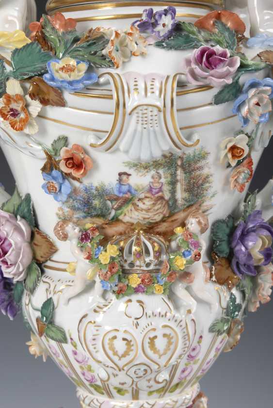 Great pomp-lidded vase, POTSCHAPPEL. - photo 2