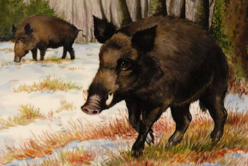Porcelain Painting: Wild Boars. - photo 2