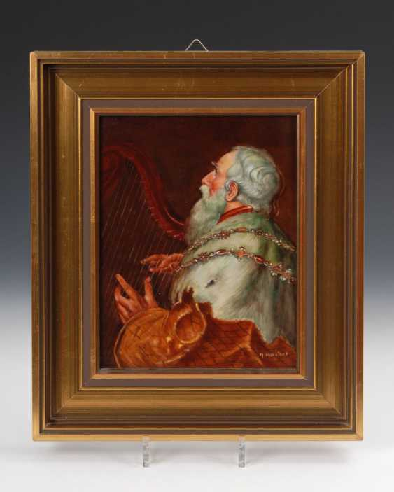 Porcelain Painting: King David. - photo 1