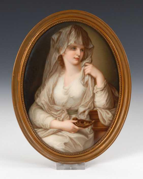 Porcelain painting: portrait of a lady al - photo 1