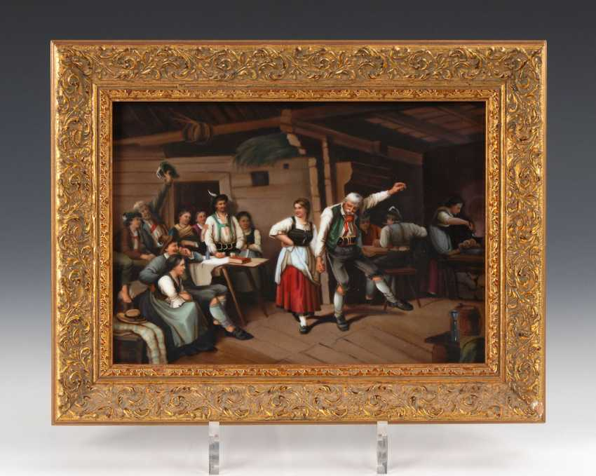 Porcelain Painting: Grandfather's Dance Lesson - photo 1