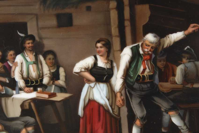 Porcelain Painting: Grandfather's Dance Lesson - photo 2