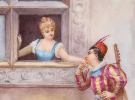 Porcelain painting: cavalier at the window. - photo 2