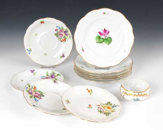 6 + 4 plates and 1 bowl, HEREND. - photo 1