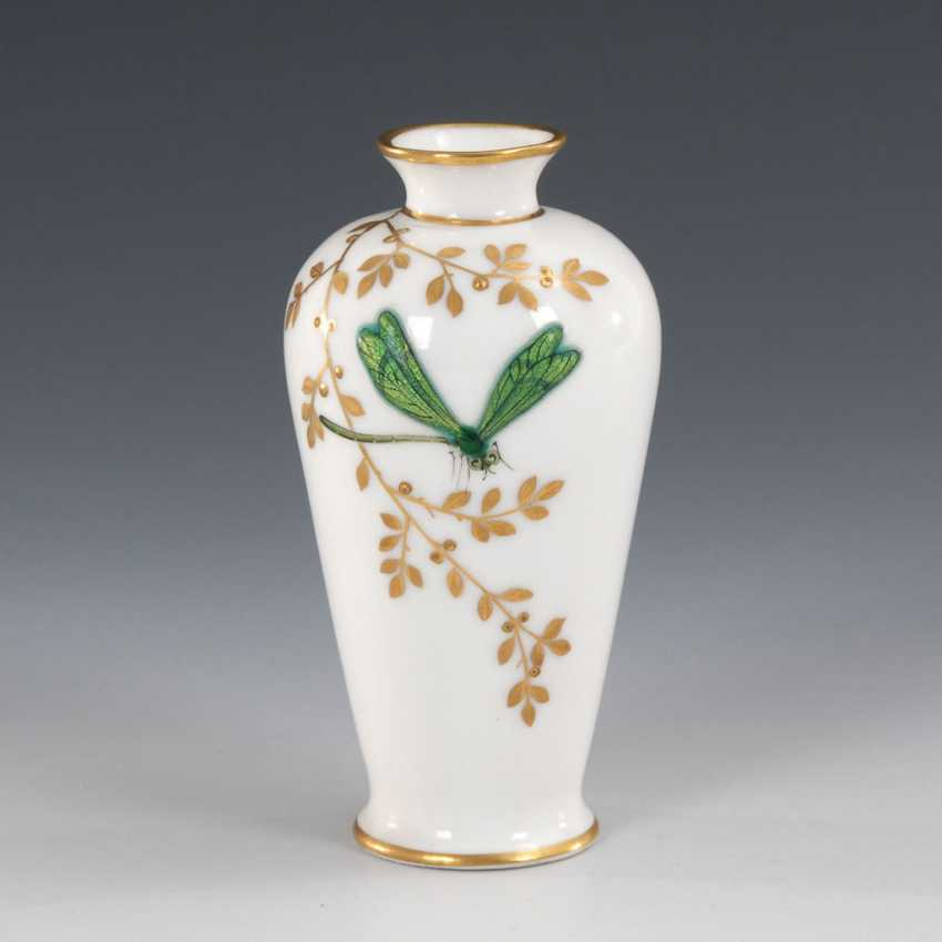 Small Vase with enamel painting, LIMOGES. - photo 1