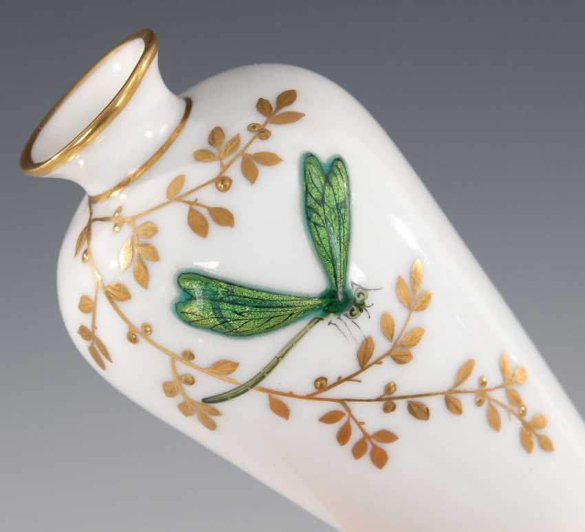 Small Vase with enamel painting, LIMOGES. - photo 2