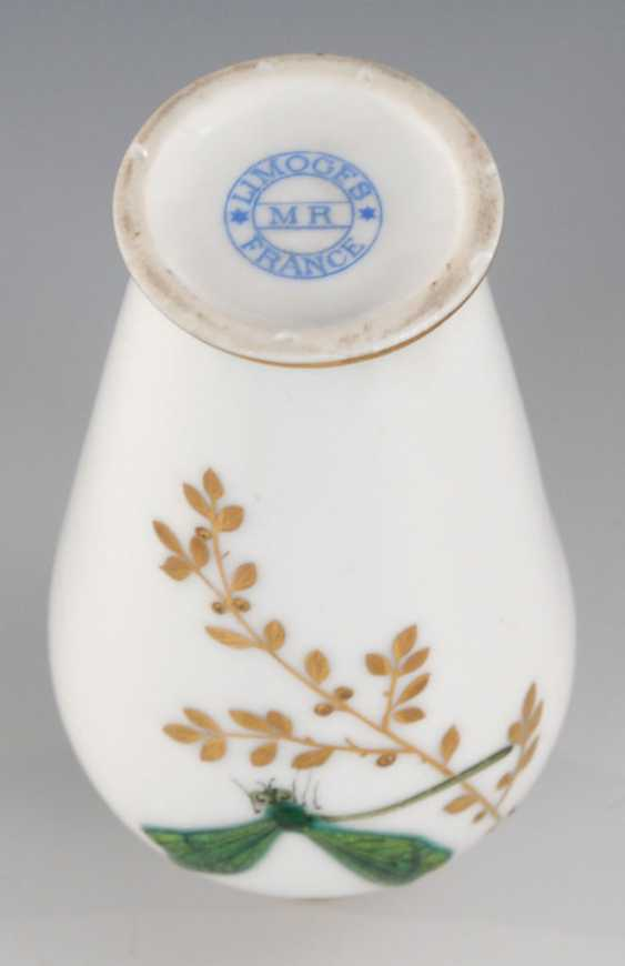 Small Vase with enamel painting, LIMOGES. - photo 3