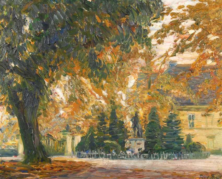 BACH, Paul: Park landscape with house. - photo 1