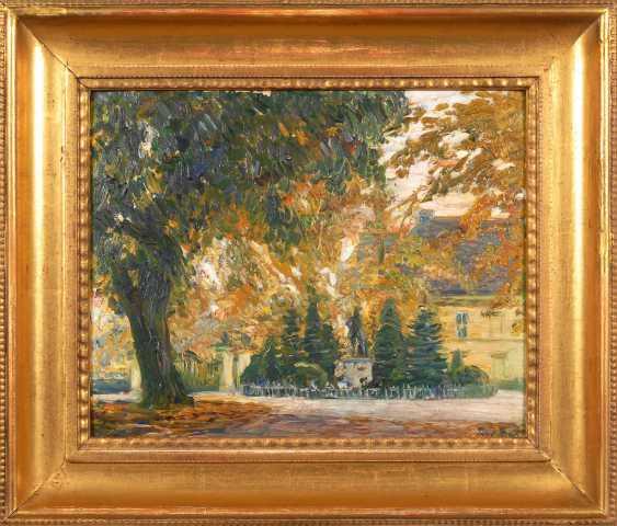 BACH, Paul: Park landscape with house. - photo 2