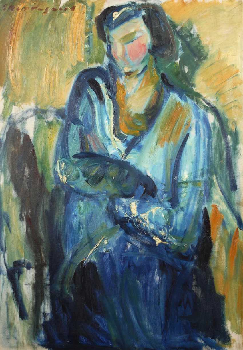 BORREGARD, Eduard: Seated lady. - photo 1