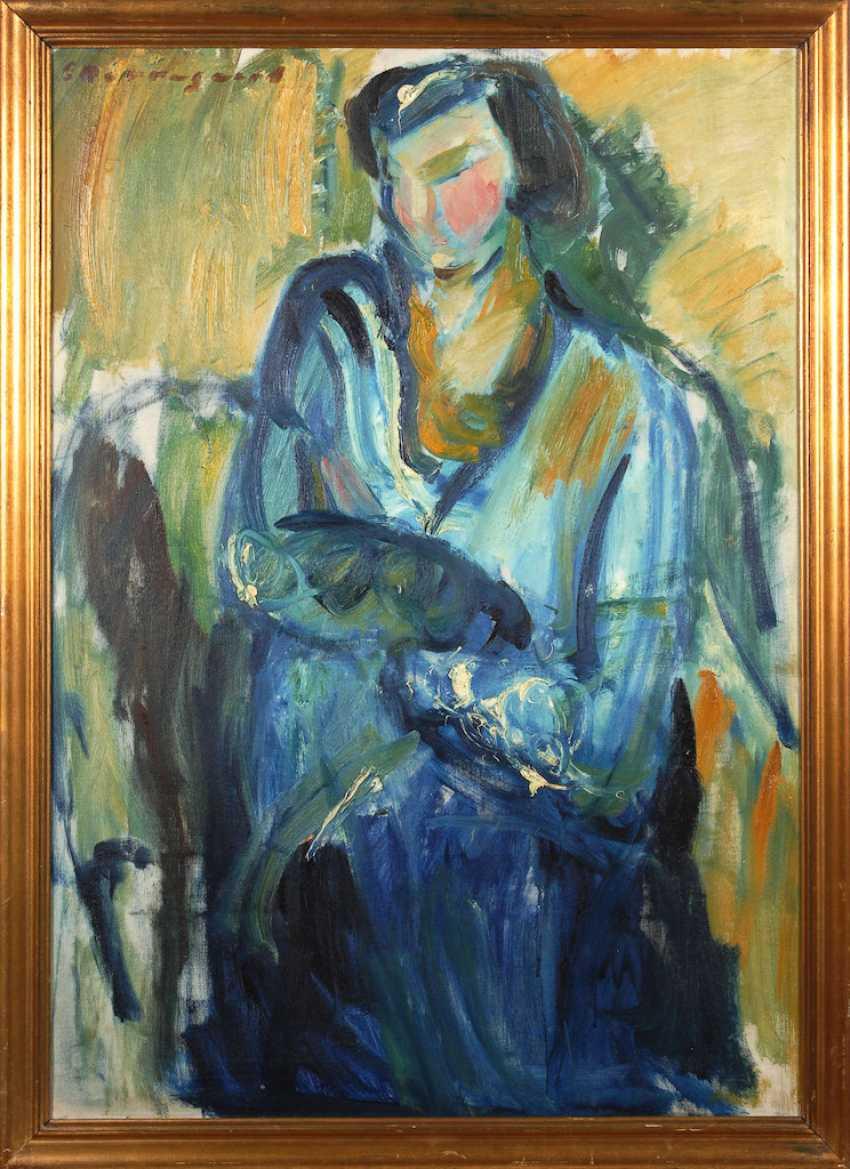 BORREGARD, Eduard: Seated lady. - photo 2