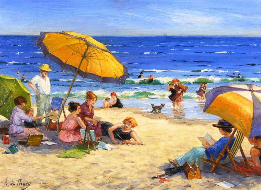 DE FLEURY, A.: Animated beach scene. - photo 1