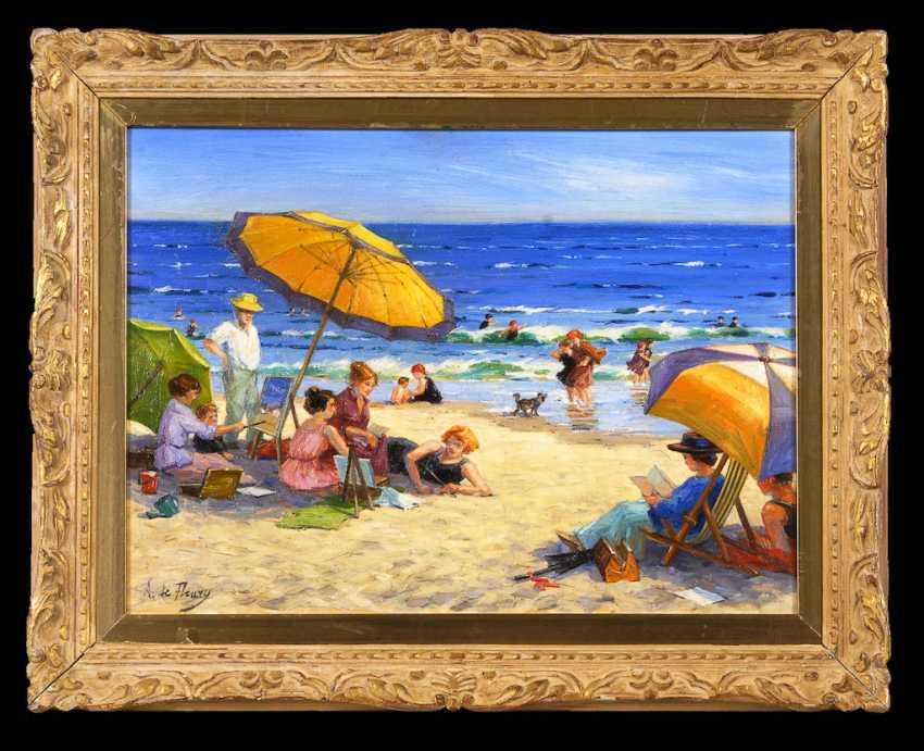DE FLEURY, A.: Animated beach scene. - photo 3