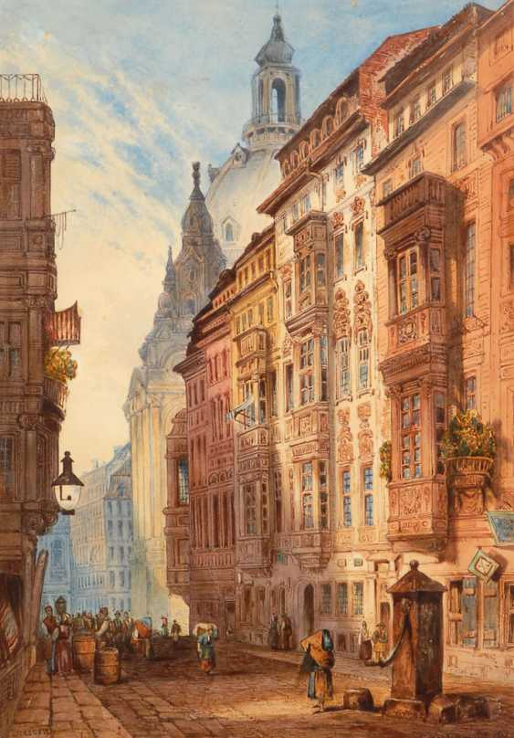 """DELAMOTTE, William Alfred: """"A Street in - photo 1"""