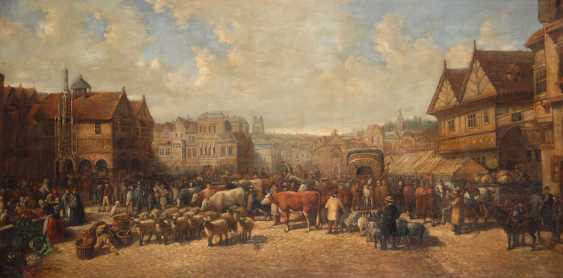 DÜRER, Kurt: Busy marketplace. - photo 1