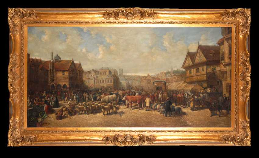 DÜRER, Kurt: Busy marketplace. - photo 2