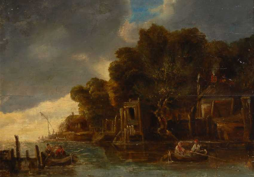 English Harbor Scene, 18. Century - photo 3