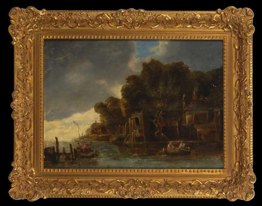 English Harbor Scene, 18. Century - photo 1