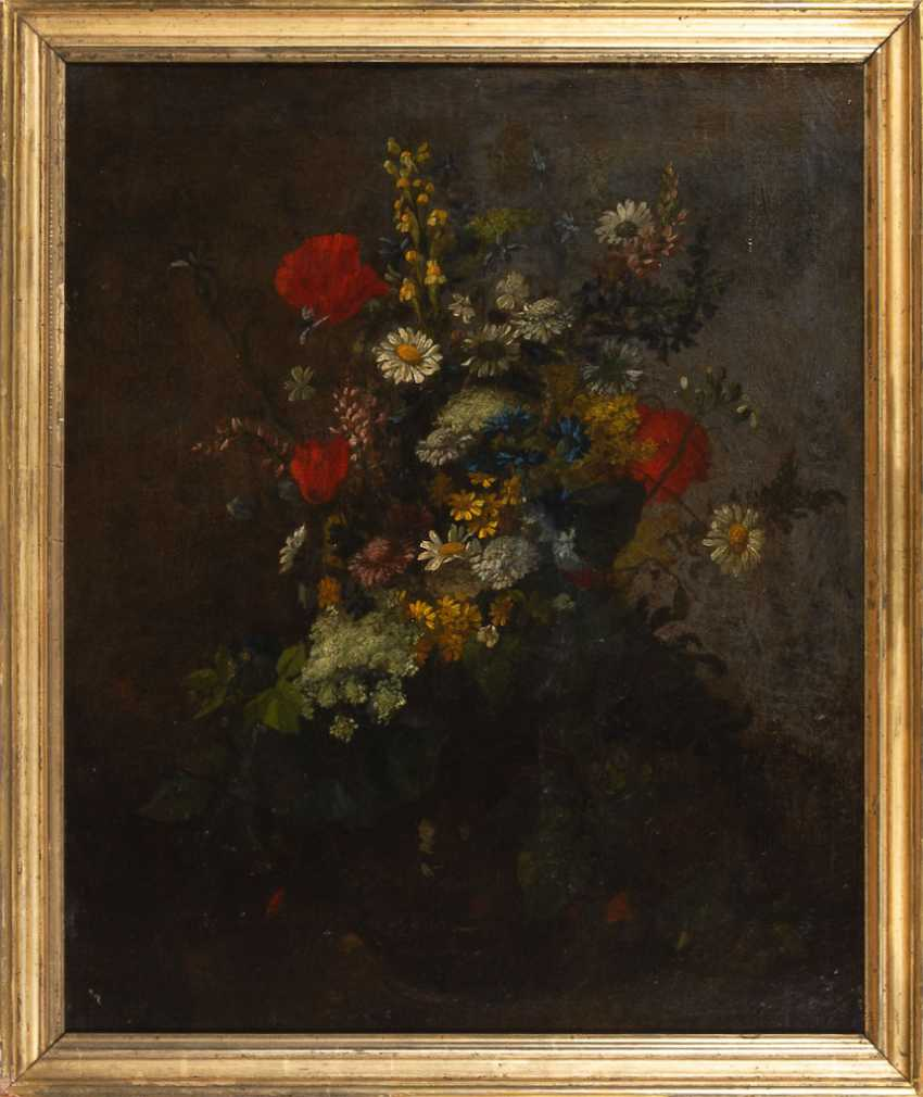 French Painter: Bouquet Of Flowers. - photo 3