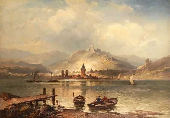 FRIESEN, Ludwig: river landscape with St - photo 1