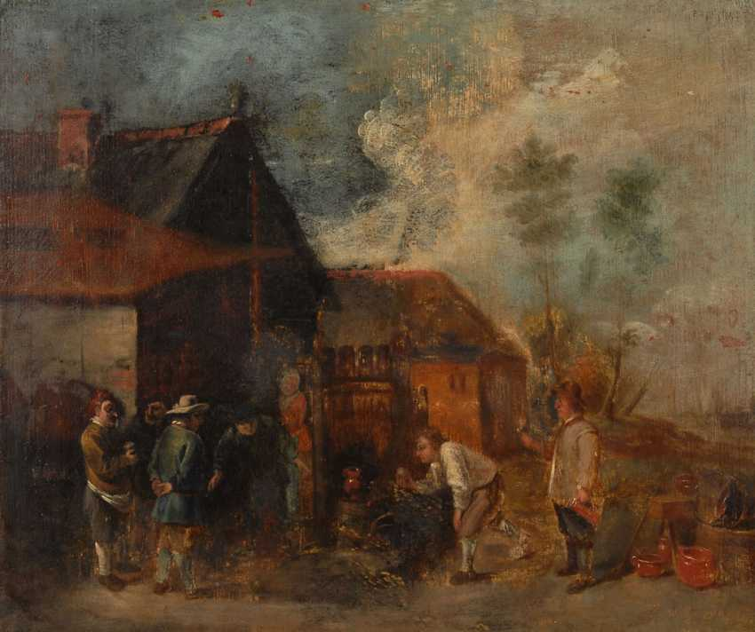 Genre painter 17./18. Century: peasants in the village of - photo 1