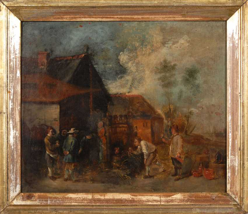 Genre painter 17./18. Century: peasants in the village of - photo 3