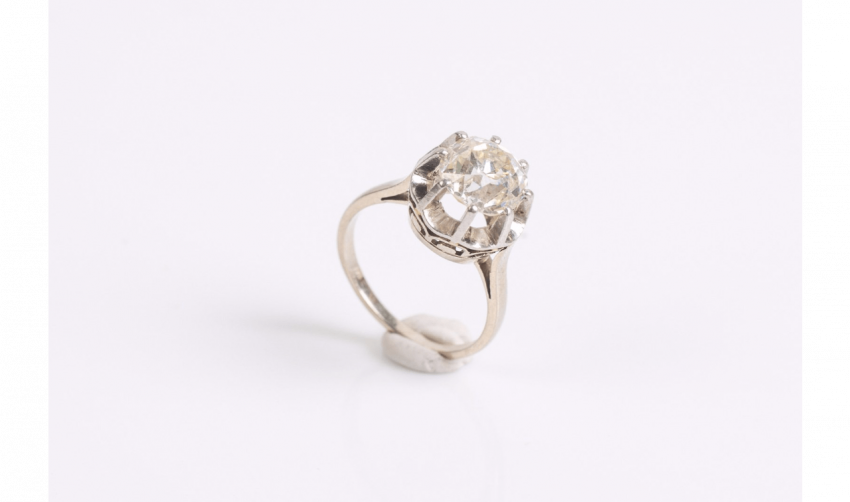 Ring in platinum (950 mils), and white gold - photo 1