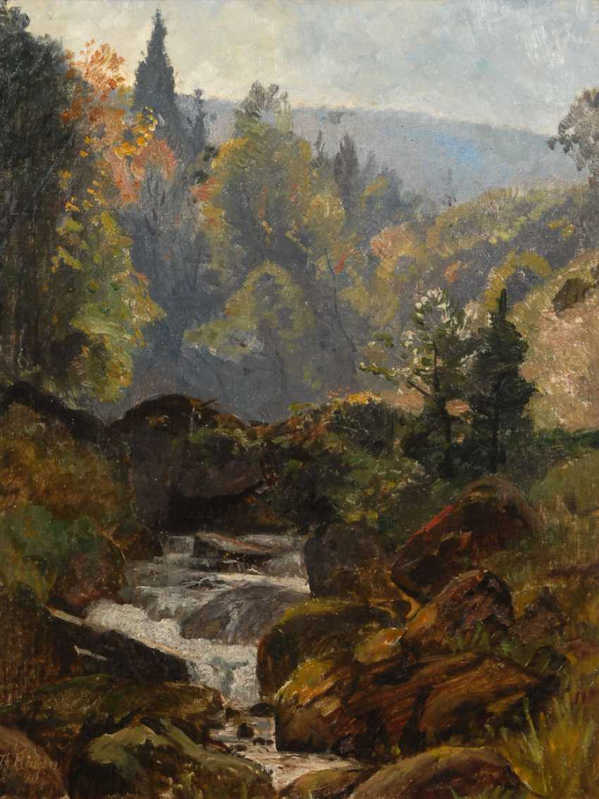 "HAGEN, Theodor: ""forest stream"". - photo 1"