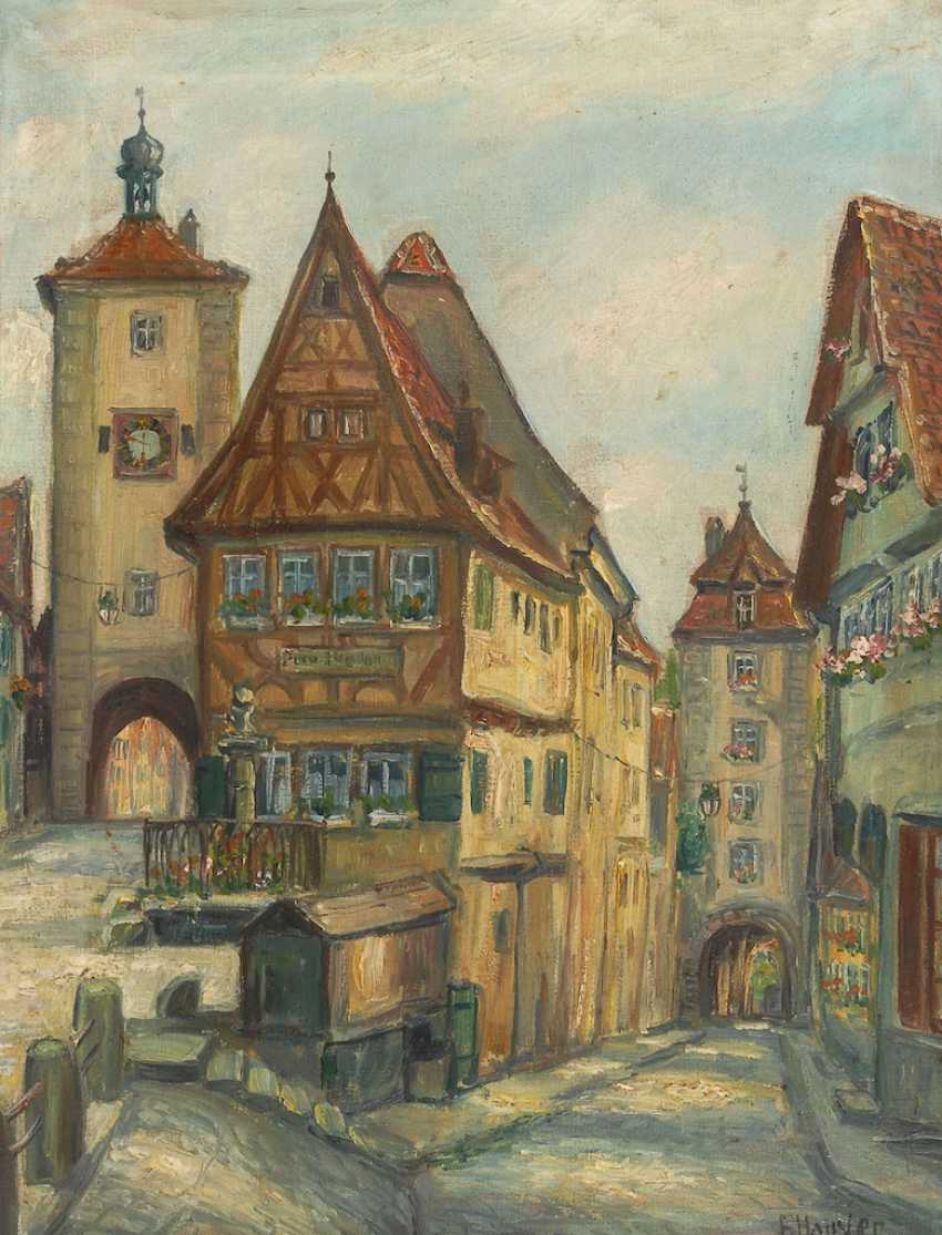 HAUSLER, Franz: a view of the City of Rothen - photo 1