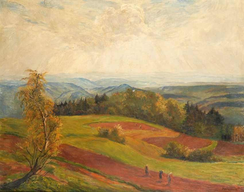 HEMPFING, Wilhelm: - Wide Autumn landscape - photo 1