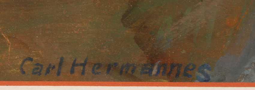 """HERMANNES, Carl: """"Parthie aus Worpswede - photo 3"""