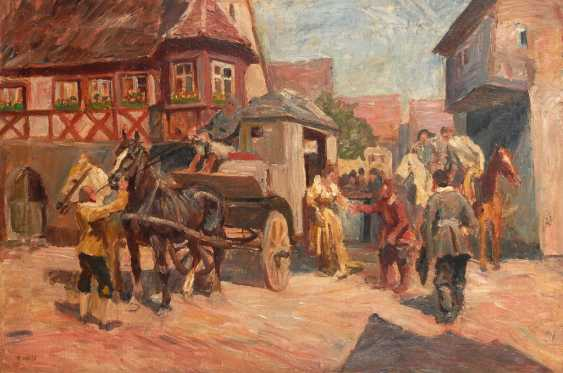 HOSSE, Adolf: the arrival of the stagecoach. - photo 1