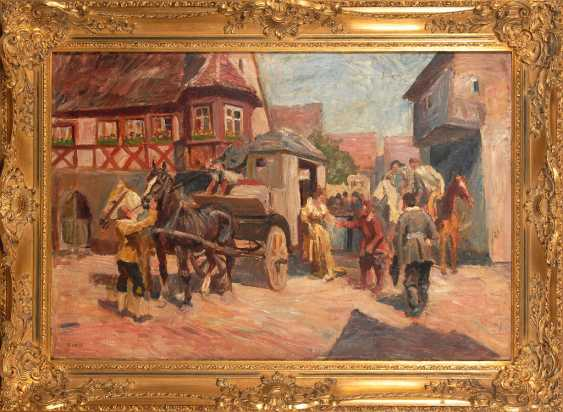 HOSSE, Adolf: the arrival of the stagecoach. - photo 3